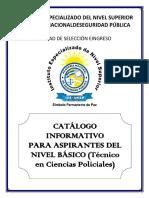 CATALOGO INFORMATIVO Técnico Ciencias Policiales 2016