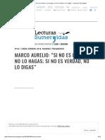 """Marco Aurelio_ """"Si No Es Bueno, No Lo Hagas; Si No Es Verdad, No Lo Digas"""" – Lecturas Sumergidas"""