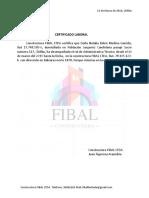 Certificado Laboral Natalia