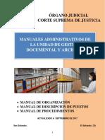 Manuales Administrativos de La Unidad de Gestión Documental y Archivos