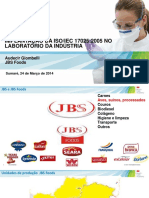 ISO 17025 No Laboratório Da Industria de Alimentos