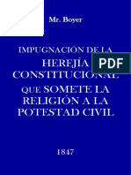 Impugnación de la herejía constitucional MR BOYER