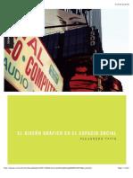 El diseño grafico en el espacio social A Tapia