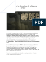 Seguridad en las Operaciones de Su Empresa-OPSEC