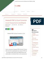 [ET]Aiseesoft PDF to Excel Converter 3.3