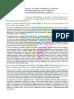 Llamado a La Legislatura Electa 2018-2021 Para Una Acción Climática Idónea y Efectiva - MCC-SLV - San Salvador_16 de Marzo de 2018