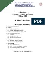 Silab. Ecologia 2017-II