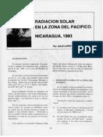 Radiación Solar en La Zona Del Pacifico. Nicaragua%2C 1993