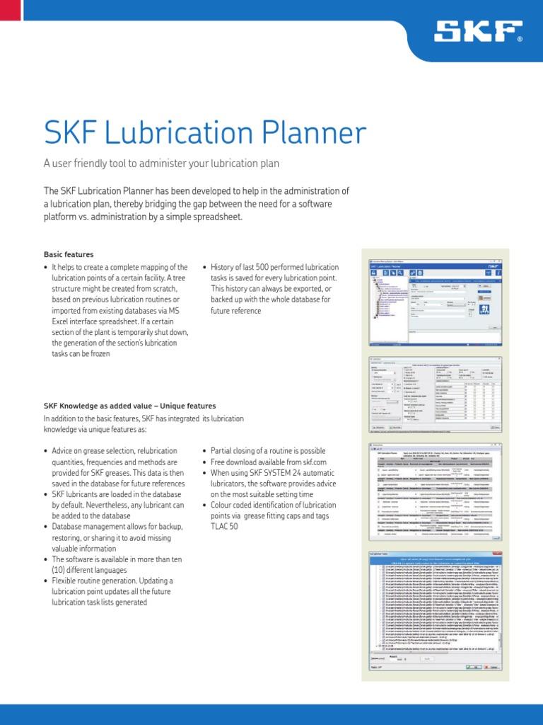 12407EN_Lubrication_Planner[1] pdf | Databases | Spreadsheet