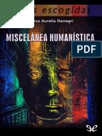 Denegri Marco Aurelio - Miscelanea Humanistica