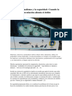 El Profesionalismo y la seguridad-Cuando la especulación alienta el delito