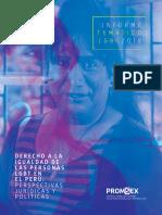 Informe LGTB Informe LGBT 2018. Derecho a la igualdad de las personas LGBT en el Perú