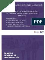 Análisis Ranking Universidades Nacionales