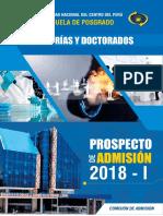 Prospecto de Admisión Posgrado 2018-i