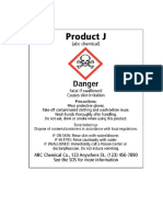 CHEMICAL Labelling Exercises
