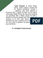 Variedades Tomás Emanuel