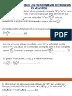 Determinacion de Los Coeficientes de Distribucion de Velocidad