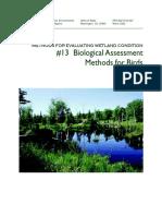 Bioassesment With Birds