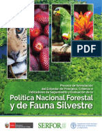 21-Politica Nacional Forestal y de Fauna Silvestre 2017 - Serfor