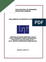 Reglamento de Registro Academico Aprobado Por c.u. en Sesión 06 2017