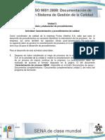212934009 Actividad de Aprendizaje Unidad 3 Caracterizacion y Procedimientos de Calidad