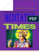 Meditation Times August 2010
