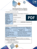 Guía y Rúbrica - Fase Uno