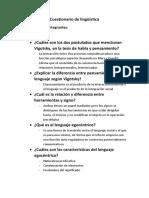 Cuestionario de Lingüística