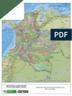 Mapa Subzonas Hidrograficas Colombia