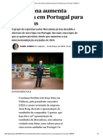 Empresas _ Mercadona Aumenta Presença Em Portugal Para Nove Lojas _ PÚBLICO