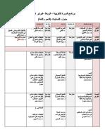 برنامج الدورة التكوينية – الرباط