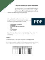 Iuso de La Hoja de Calculo Excel en Los Analisis de Regresion Simple