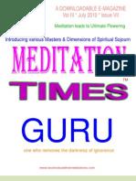 Meditation Times July 2010