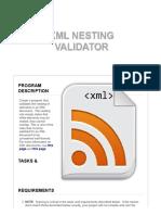 CS106 - XML Nesting Validation