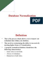Normalization A