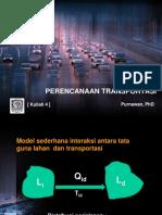 Model Interaksi Tataguna Lahan & Transportasi