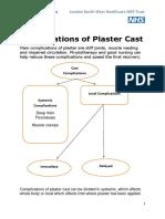 Complications of Plaster Cast PATIENT LEAFLET[1] (1)