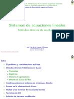 Clase Sistemas Ecuaciones Lineales 2016