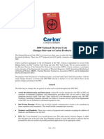 Carlon Introduction and Global Changes to the 2005 NEC
