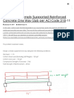 Designing a Simply Supported Reinforced Concrete One Way Slab Per ACI Code 318-11