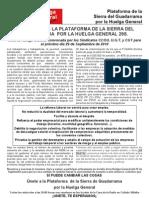 Manifiesto de La ma de La Sierra Del Guadarrama Por La Huelga General 29s[1]