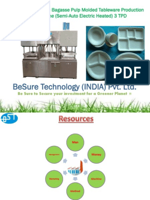 Project Report for TWS3000 Semi Auto Bagasse Tableware Line