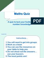 Football Maths Quiz