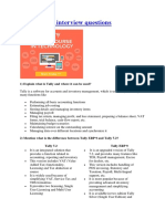 322218950 Top 30 Tally Interview Questions Docx