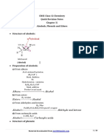 12 Chemistry Notes Ch11 Alcohols Phenols and Ethers
