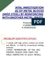 Experimental Investigation on Joining of Metal Blocks By HEBIN RAJ H
