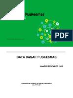Buku Data Dasar Puskesmas 2016