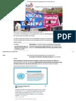 La ONU Protesta Por La Supresión de La Ideología de Género en El Currículo Escolar de Perú