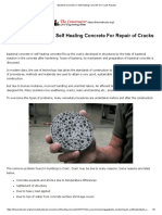 Bacterial Concrete or Self Healing Concrete for Crack Repairs