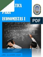Libro de Matematica Para Economista I